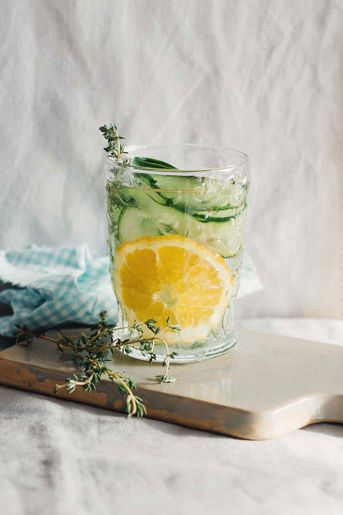 Orange Cucumber Thyme Detox Water