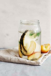 Fat Burning Pineapple Peach Sage Detox Water