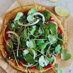 Quinoa Crust Pizza with Greens