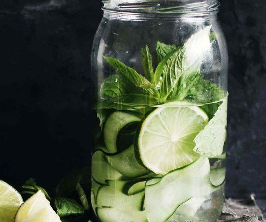 Zucchini Lime Mint Detox Water