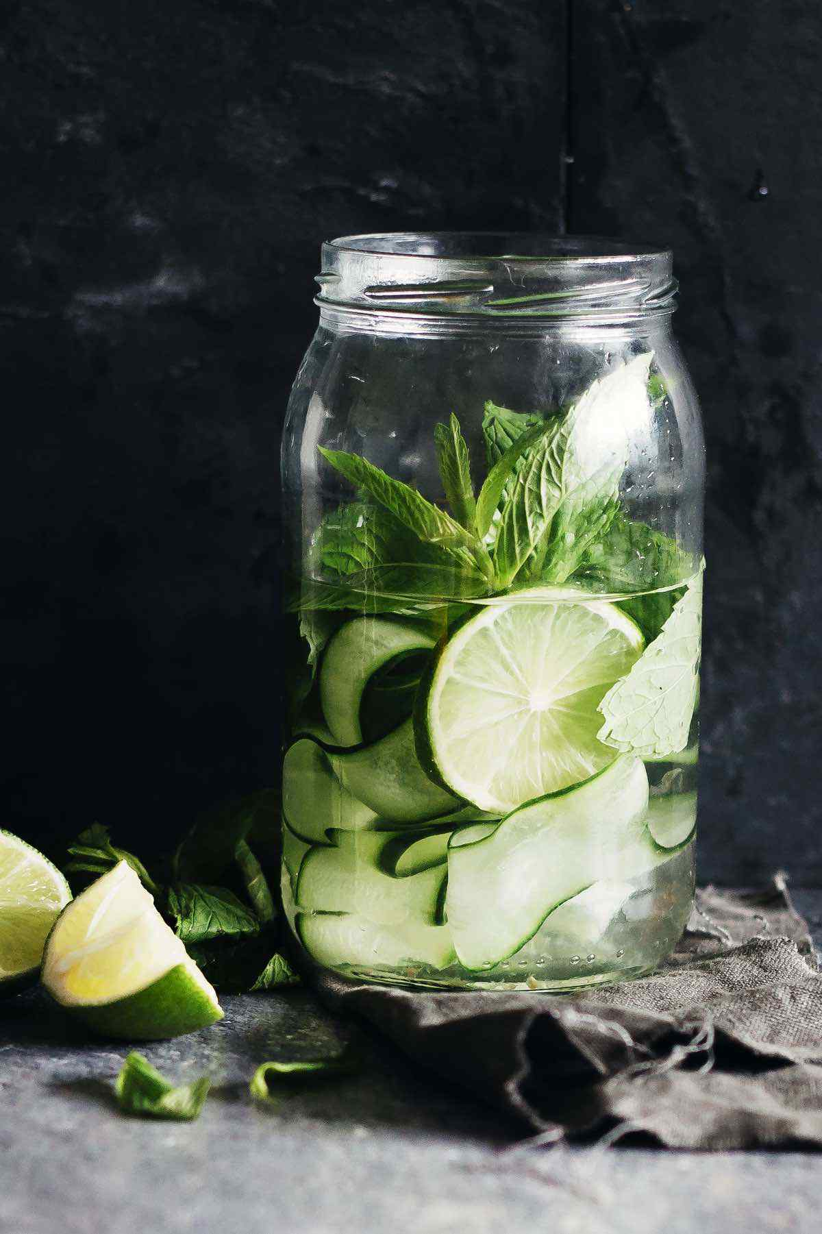 Zucchini Lime Mint Detox Water