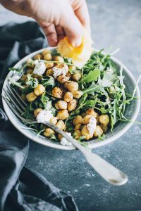 Protein Packed Chickpea and Arugula Detox Salad