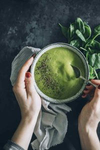 Alkalizing Green Detox Soup with Broccoli and Ginger