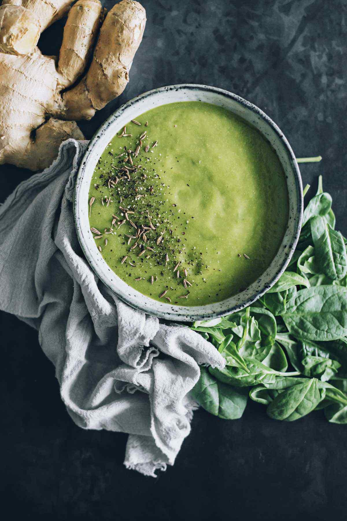 green ginger detox soup
