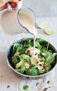 Cleansing Broccoli Caesar Salad