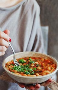 Kale and Canellini Bean Stew