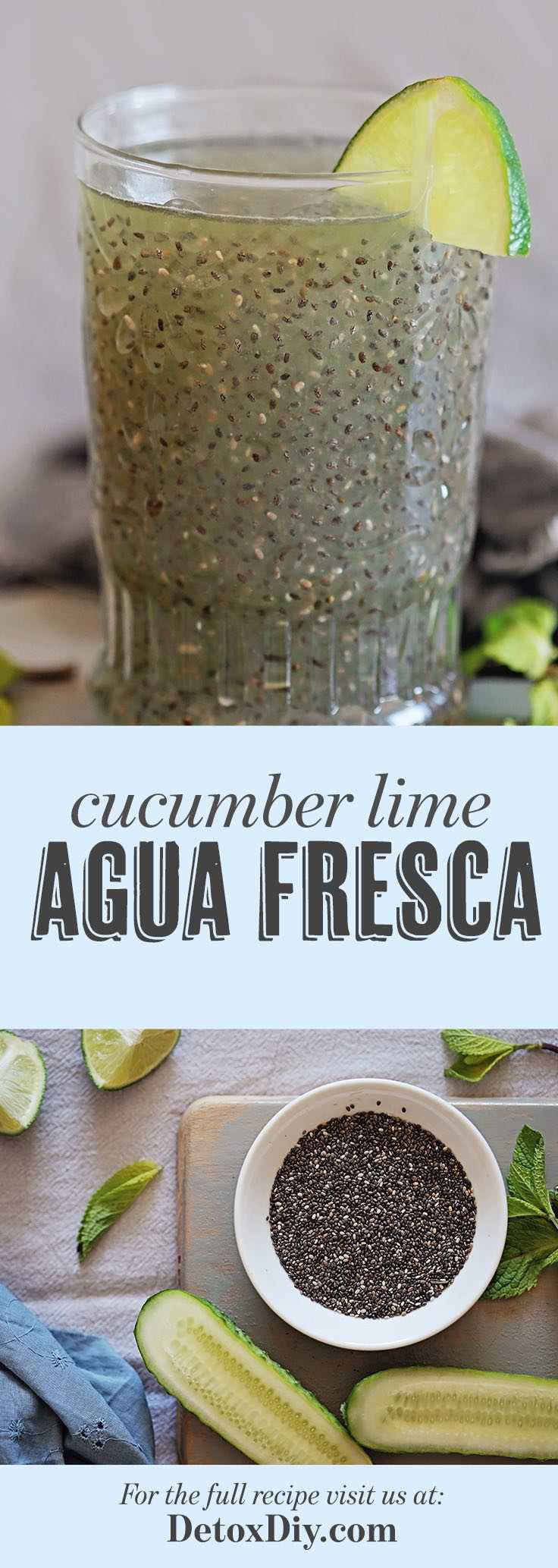This cucumber lime agua fresca makes the most refreshing and hydrating drink!