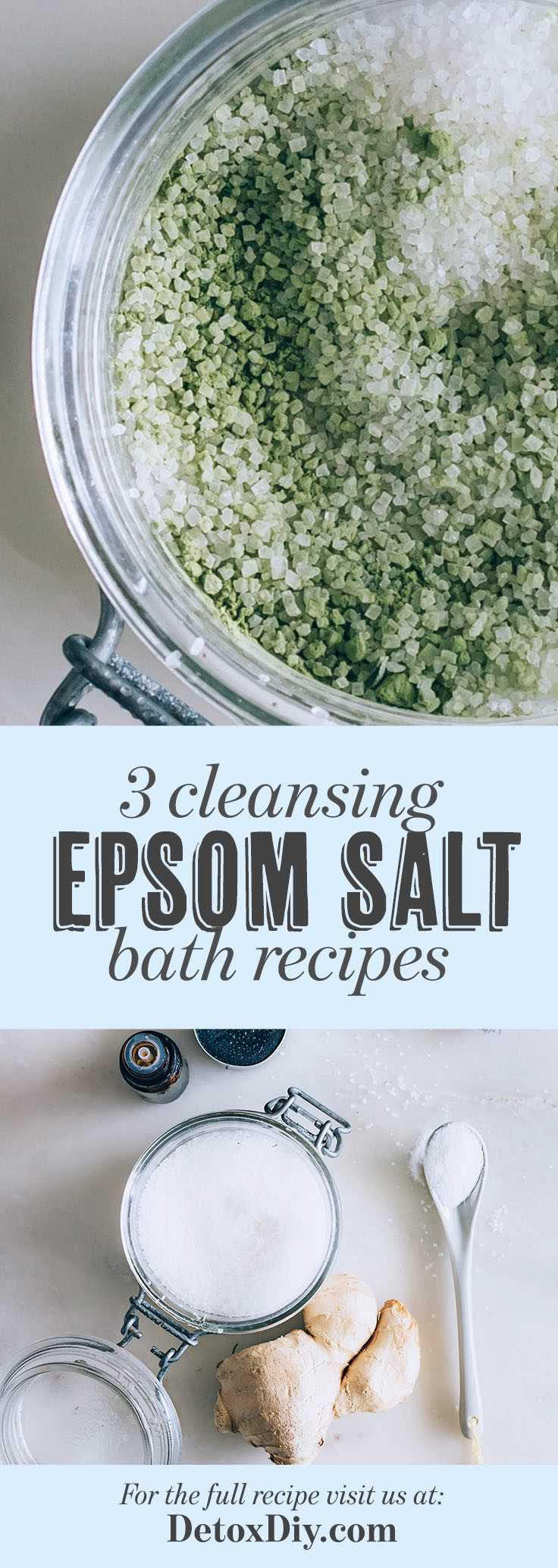 use these easy epsom salt bath recipes to soothe your body, cleanse your skin and relax your mind.