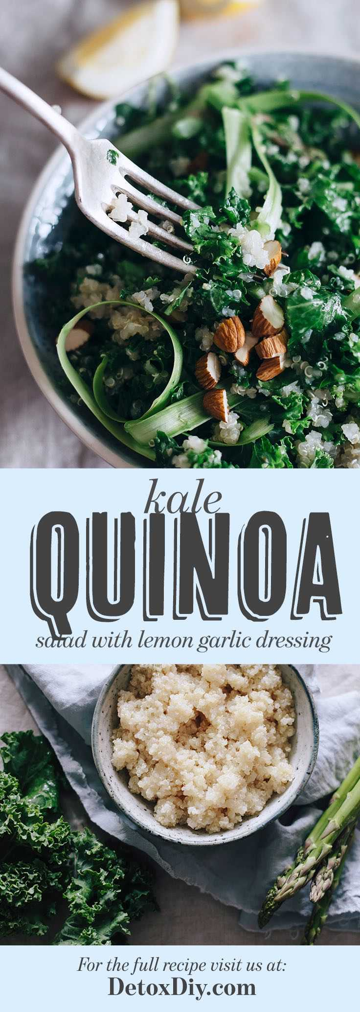 The Best Kale Quinoa Salad with Lemon Garlic Dressing