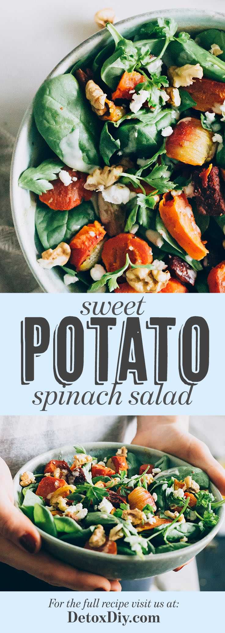 Quick (And Healthy) Sweet Potato Spinach Salad
