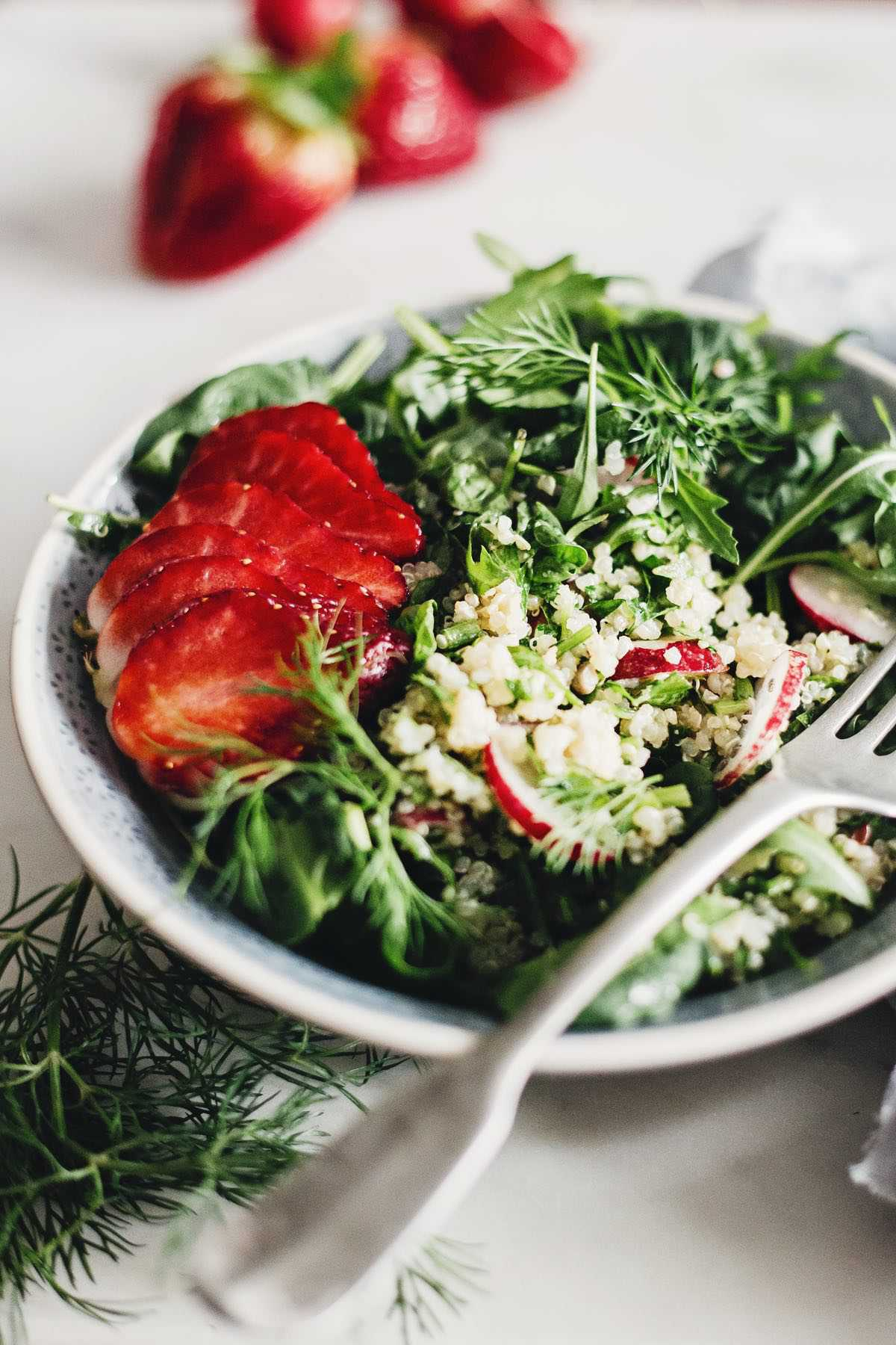 Avocado, Strawberry and Cucumber Quinoa Salad