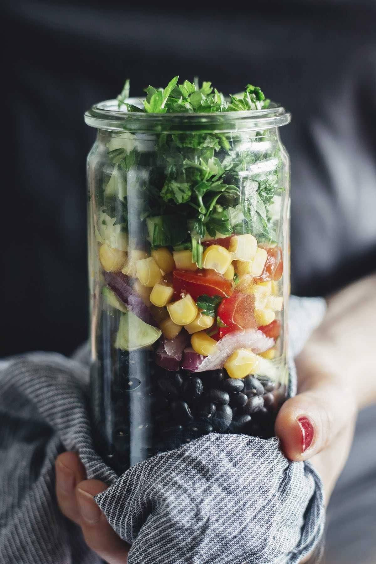 Sweet Corn Salad in a Jar