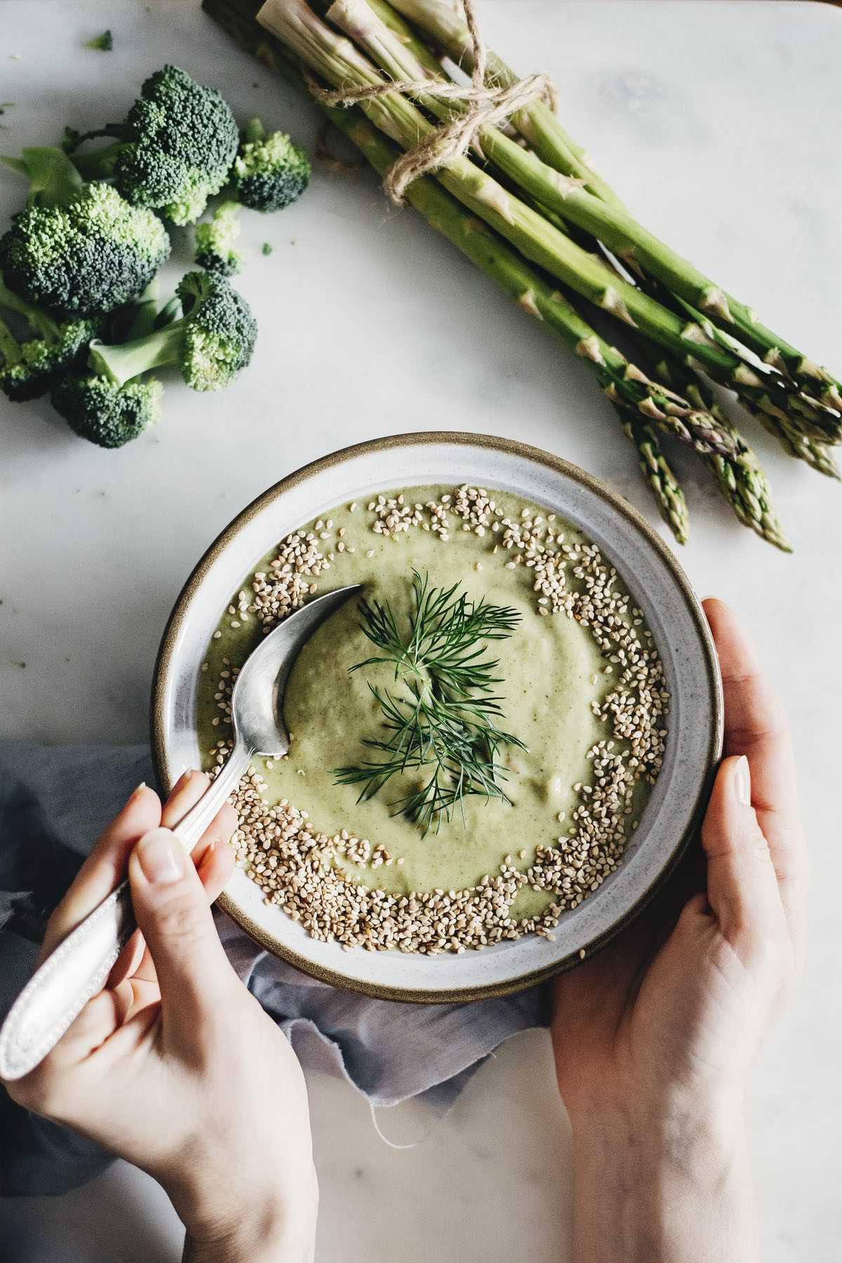 Broccoli Asparagus Soup