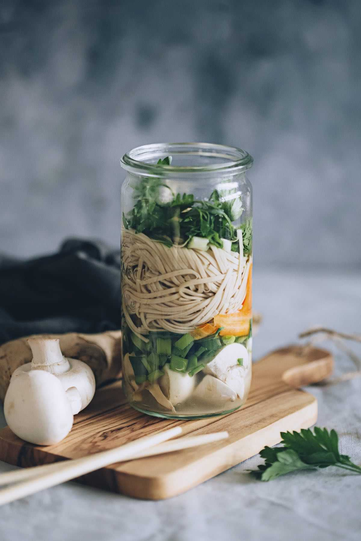 Soba Noodle Soup in a Jar