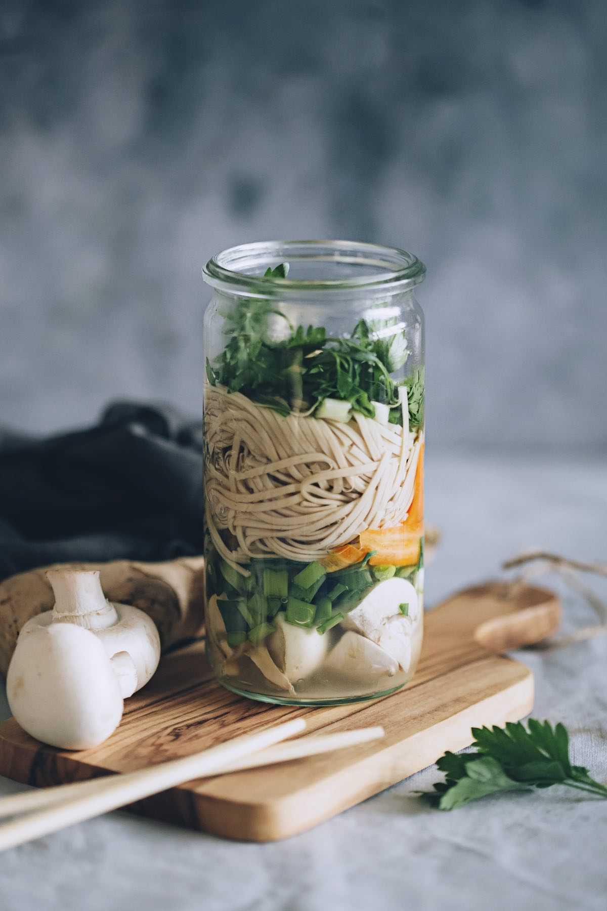 Soba Noodle Soup in a Jar