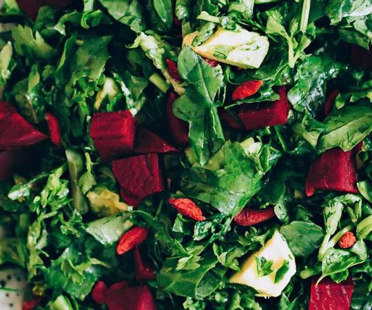 Beet Avocado Kale Salad