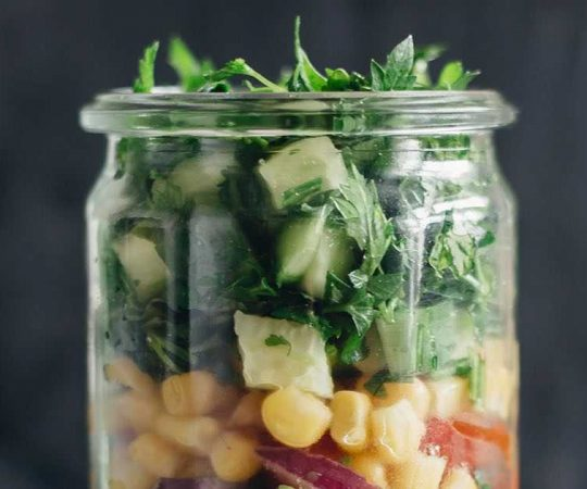 Sweet Corn Salad in a Jar