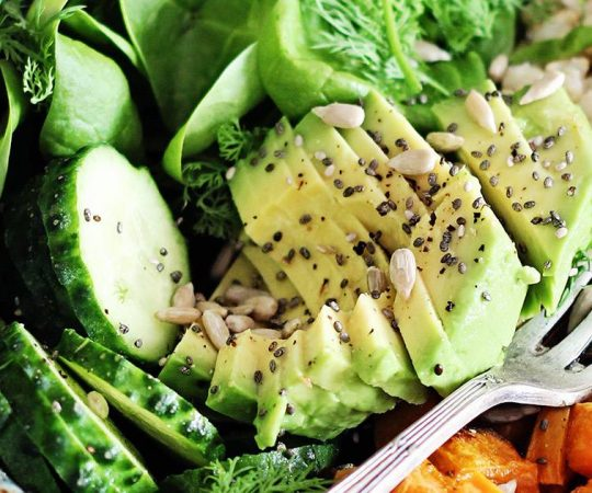 Avocado Sweet Potato Brown Rice Bowl
