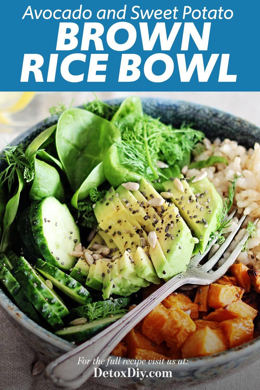 Avocado Sweet Potato Brown Rice Bowl