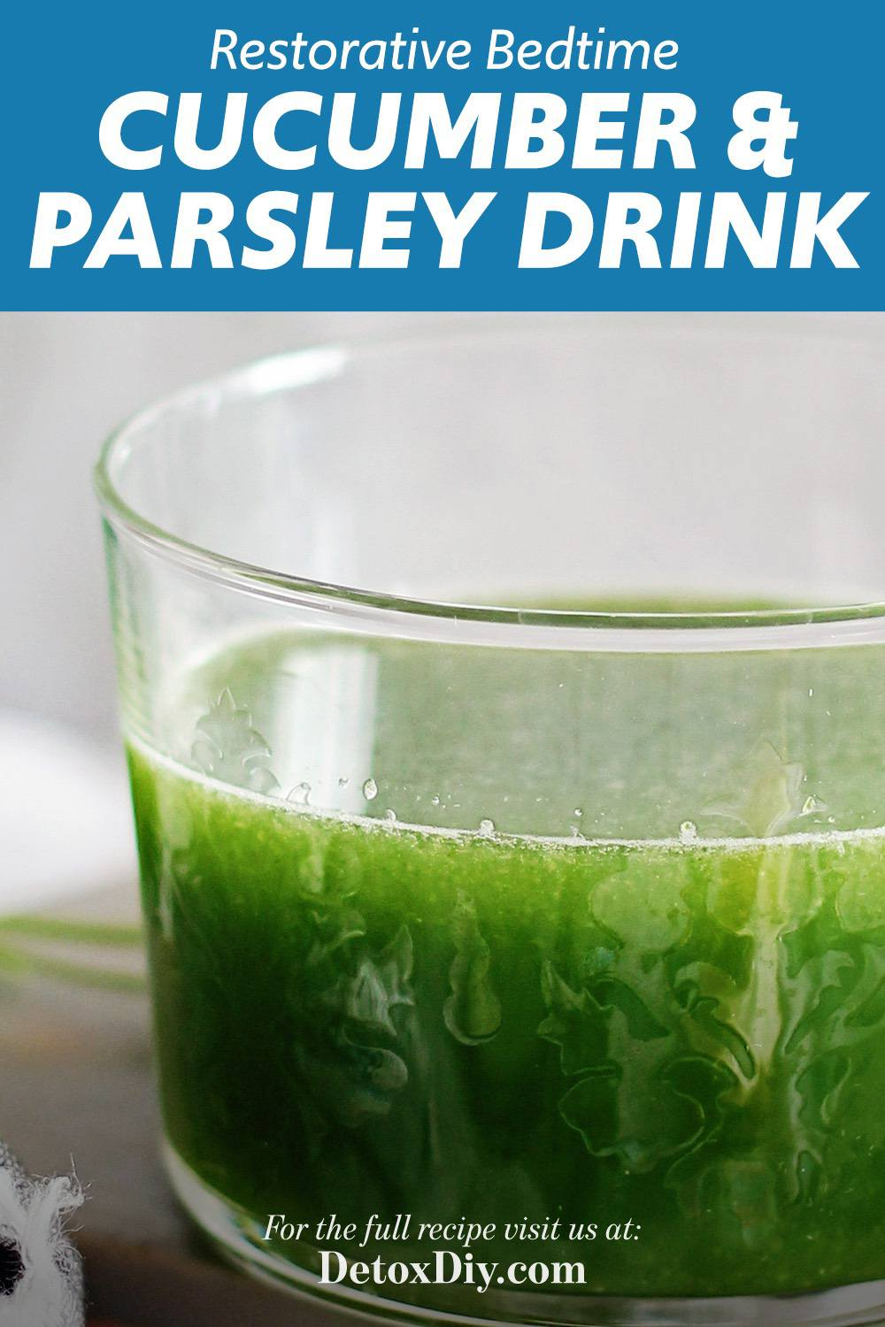 Cucumber Lemon Parsley Drink
