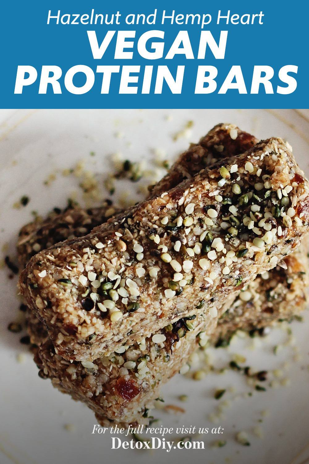 Hazelnut Hemp Heart Vegan Protein Bars
