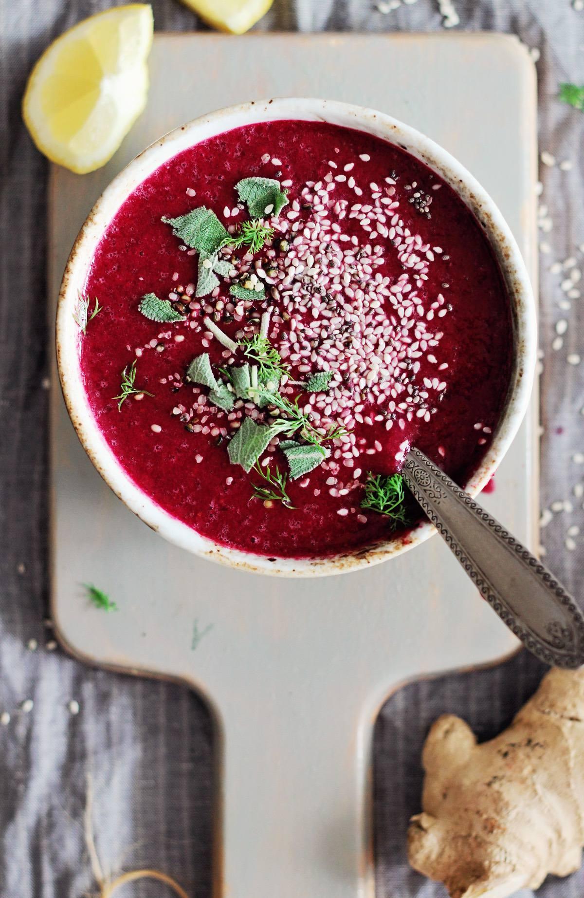 Vegan Beet Ginger Soup